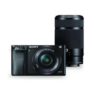 Sony Alpha A6000 Mirrorless Camera with 16-50mm f/3.5-5.6 OSS & 55-210mm f/4.5-6.3 OSS Lenses, Black