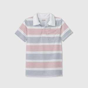 Boys' Short Sleeve Performance Polo Shirt - Cat & Jack White