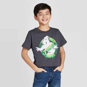 Boys' Short Sleeve Ghostbusters Graphic T-Shirt - Gray
