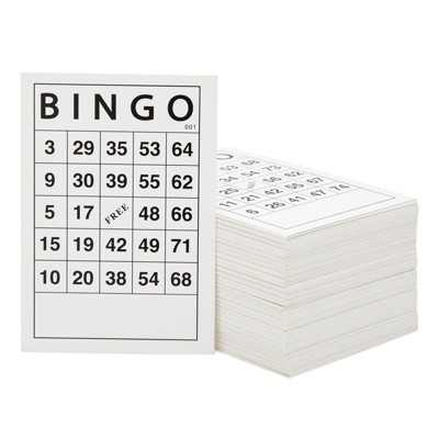 Juvale 180 Pack Bingo Cards for Family Nights, Charity Events, Parties (6 x 4 In)