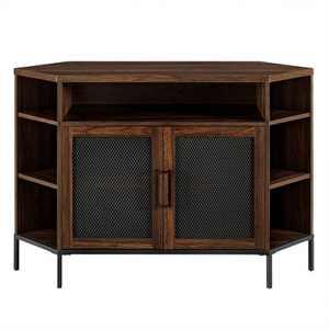 """Kado Corner Metal Mesh Doors TV Stand for TVs up to 55"""" - Saracina Home"""
