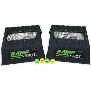 RampShot Extreme Cornhole Family Outdoor Yard Game Set w/ 2 Ramps, 4 Balls, 2 Nets and Instructions