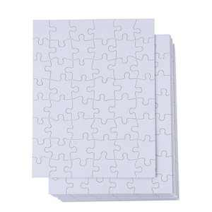 Juvale Blank Jigsaw Puzzle, 48 Pieces (8.5 x 11 In, 36 Pack, Not for Sublimation)