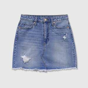 Women's High-Rise Mini Jean Skirts - Universal Thread Medium Blue