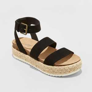 Women's Agnes Microsuede Espadrille Platform Sandals - Universal Thread