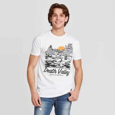Men's Short Sleeve Death Valley Graphic T-Shirt - Awake White