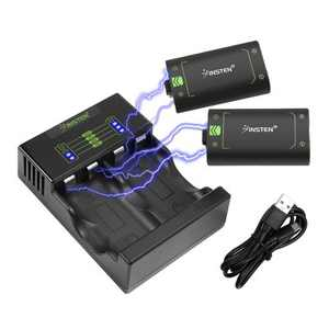 2x 40+ Hours Playtime 2500mAh Battery Pack For Xbox One/Xbox One S/One Elite Wireless Controller+1x Fast Charging Xbox One Battery Charger Station