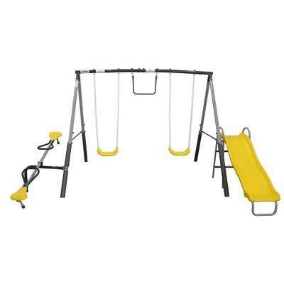 XDP Recreation The Titan Outdoor Playground Backyard Kids Toddler Play/Swing Set