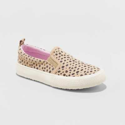 Girls' Agnesa Leopard Spot Slip-On Sneakers - Cat & Jack Brown