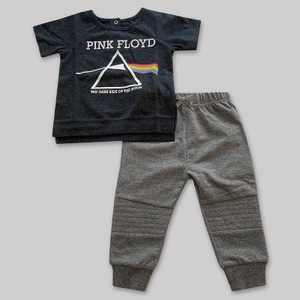 Baby Boys' 2pk Pink Floyd Top and Bottom Set - Dark Heather