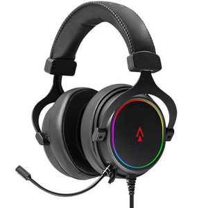 Dark Matter by Monoprice Supernova USB Gaming Headset - 53mm, Virtual 7.1 Surround, Detachable ANC Mic, PU Leather/Aluminum, RGB, PC Only
