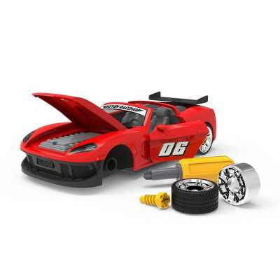 DRIVEN - Toy Take-Apart Sports Car with Accessories - 34 pc