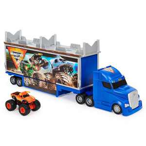 Monster Jam Official 2-in-1 Transforming Hauler Playset with Exclusive 1:64 Scale El Toro Loco Die-Cast Monster Truck
