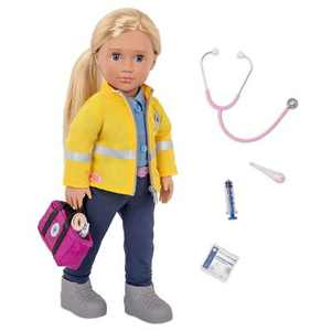"Our Generation 18"" Paramedic Doll with Medical Kit - Kaylin (EMT)"