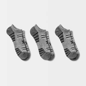 Men's Striped No Show Socks 3pk - All in Motion 6-12