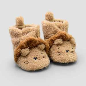 Baby Boys' Lion Constructed Bootie Slippers - Just One You® made by carter's Tan
