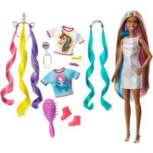 Barbie Fantasy Hair Doll - Mermaid and Unicorn Looks