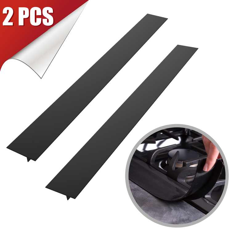 Stove Gap Cover, EEEkit 2-Pack 21 inch Premium Silicone Stove Counter Gap Cover Cooktop Gap Strips for Home Kitchen