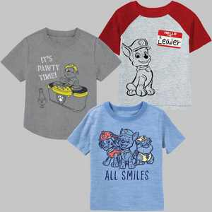 Toddler Boys' 3pk PAW Patrol DJ Spinning T-Shirt