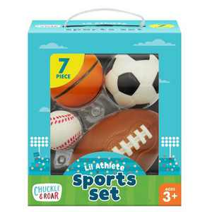 Chuckle & Roar Lil Athlete 4pk Sports Balls Role Play Set