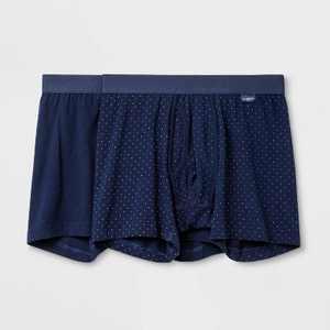Men's Micro Dot 2pk Boxer Briefs - Goodfellow & Co Navy