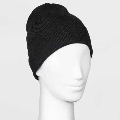 Women's Lightweight Knit Beanie - A New Day™ Black One Size