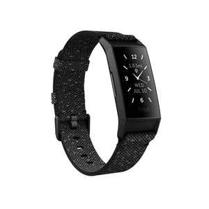 Fitbit Charge 4 Special Edition Activity Tracker - Black with Granite Reflective Woven Band