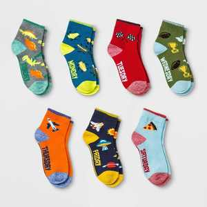 Boys' 7pk 'Days of the Week' Ankle Socks - Cat & Jack