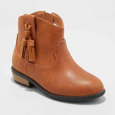 Toddler Girls' Theodora Western Boots - Cat & Jack
