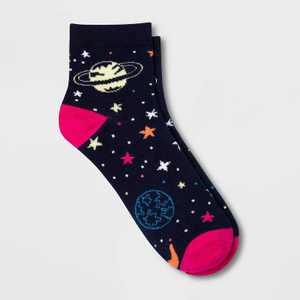 Women's Space Ankle Socks - Xhilaration™ Navy Blue 4-10