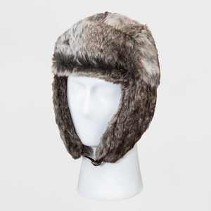 Men's Faux Fur Trapper Hat - Goodfellow & Co™ Cream One Size