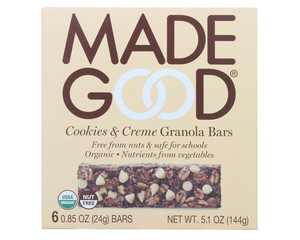 Made Good - Organic Granola Bars Cookies & Creme - 6 Bars