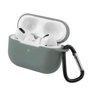 Insten Silicone Protective Case with Carabiner Clip Compatible With Apple AirPods Pro, Green