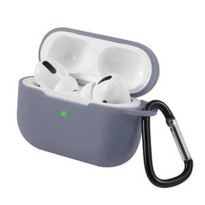 For AirPods Pro Case Silicone Protective Cover Skin with Keychain for Apple Airpod Pro 3 2019 Wireless Charging Earbuds Case, Lavender Gray by Insten
