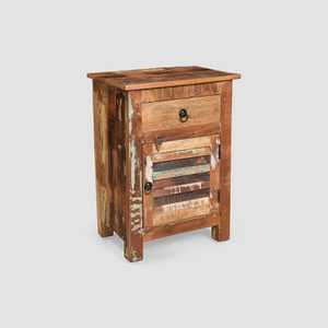 Laveer Wooden Side Table Brown - Christopher Knight Home