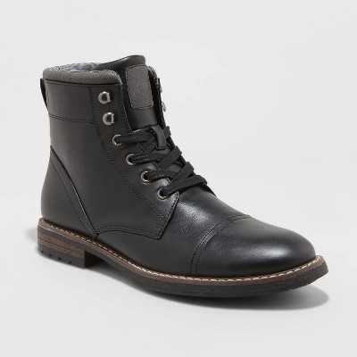 Men's Jeffrey Cap Toe Combat Boots - Goodfellow & Co
