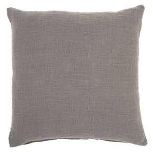 """18""""x18"""" Solid Woven Cotton Square Throw Pillow - Mina Victory"""