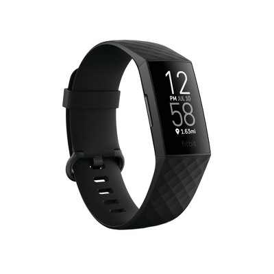 Fitbit Charge 4 Sporting Goods Activity Tracker - Black with Black Band
