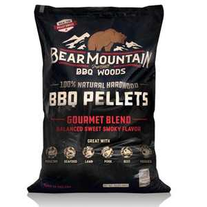 Bear Mountain BBQ FK99  All-Natural Hardwood Smoky Gourmet Blend BBQ Wood Smoker Pellets for Smokers and Outdoor Grilling, 20 Pound Bag