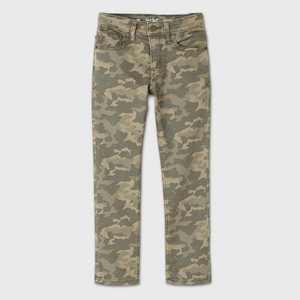 Boys' Camo Print Super Stretch Slim Fit Jeans - Cat & Jack Olive