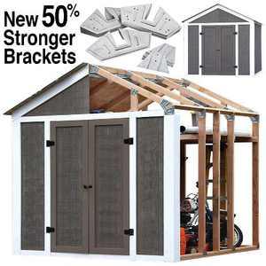 50% Structurally Stronger Truss Design Easy Shed Kit Builds 6'–14' Widths Any Length - Storage Shed Garage Barn, Peak Roof 2x4 DIY EZ Framer Kit