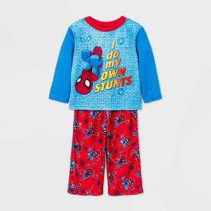 Toddler Boys' 2pc Spider-Man Pajama Set - Blue 2T