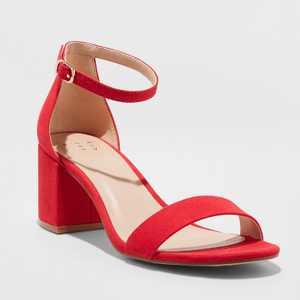 Women's Michaela Mid Block Heel Sandal Pumps - A New Day