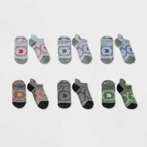 Kids' 6pk Athletic Socks - All in Motion Gray