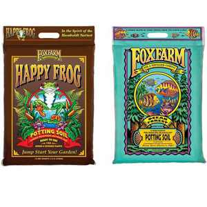 FoxFarm FX14053+FX14054 Ocean Forest w/Happy Frog Garden Potting Soils, 12 Quart
