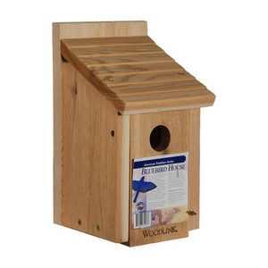 Woodlink 24301 BB1 Outdoor Wooden All Natural Inland Red Cedar Wood Bluebird Song Bird House Box