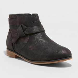 Girls' Walker Ankle Booties - Cat & Jack Black