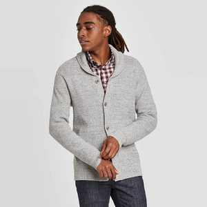 Men's Regular Fit Button-Down Shawl Sweater - Goodfellow & Co