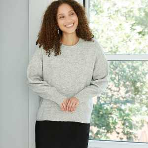 Women's Slouchy Crewneck Pullover Sweater - A New Day