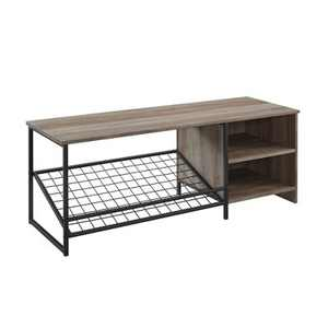 "48"" Industrial Entry Bench with Shoe Storage - Saracina Home"